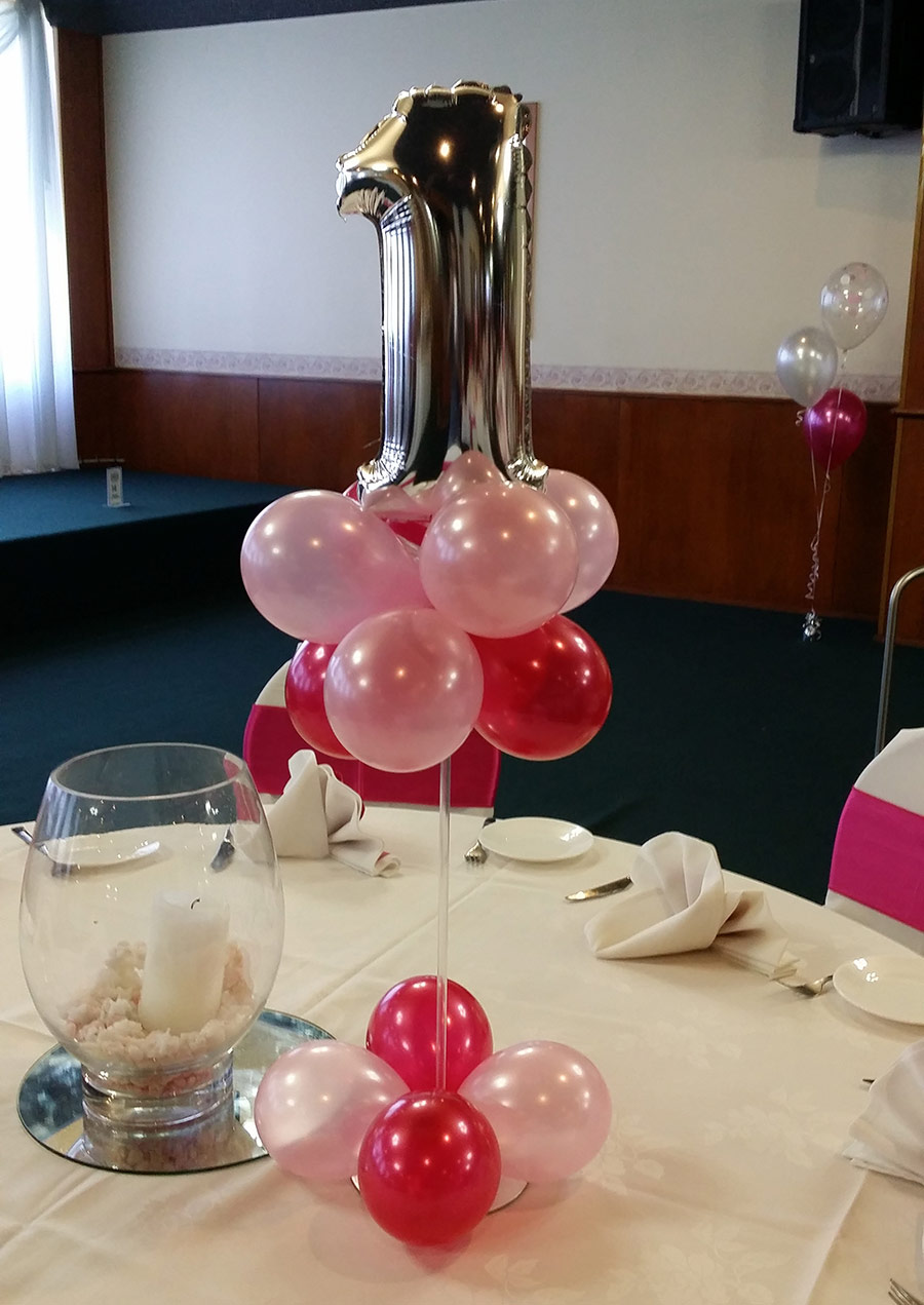 Gumball Arrangement With Printed Balloon